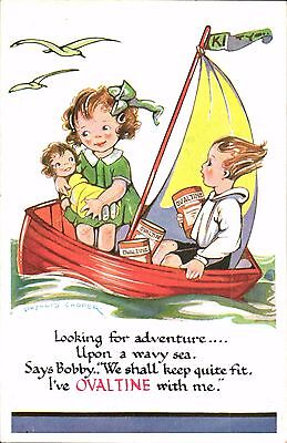 Advertising. Ovaltine by Phyllis cooper. Looking for Adventure....