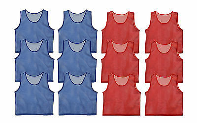 Get Out!™  Set of 12 Scrimmage Vests Pinnies Nylon Mesh for Youth Sports