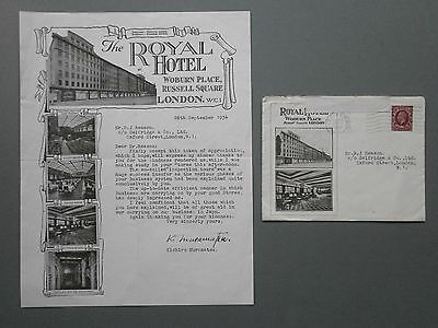 1934 Letter From Japanese Businessman To Selfridges Store On Royal Hotel Paper