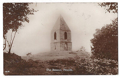 PENRITH The Beacon, RP Postcard by Brittain and Wright, Postally Used 1924