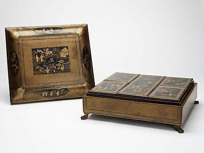Chinese Lacquer Games Box Early 19Th C.