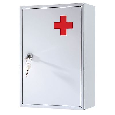 Wall Mounted Lockable Steel Medicine Box Cabinet First Aid Medical Box Cupboard
