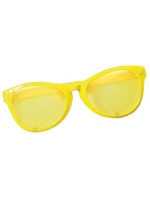 Giant Jumbo Over Clown Sunglasses Glasses Novelty Costume Accessory Yellow