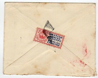 British FPOs in Egypt: 1934 cover franked 1 Pia. Cairo to Burham