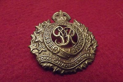 WW II/Pre WW II Canadian Cap Badge To The Royal Canadian Engineers