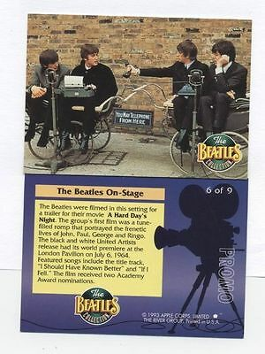 The Beatles Collection 1993 PROMO CARD -6 0f 9 The River Group