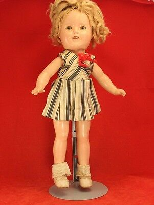 Vintage Composition 13 Shirley Temple Doll By Ideal - Original Shoe Socks