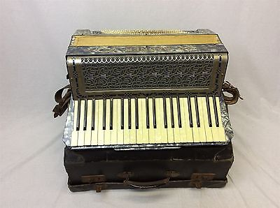 Vintage Rauner Virtuoso Piano Accordion 120 bass cased musical instrument