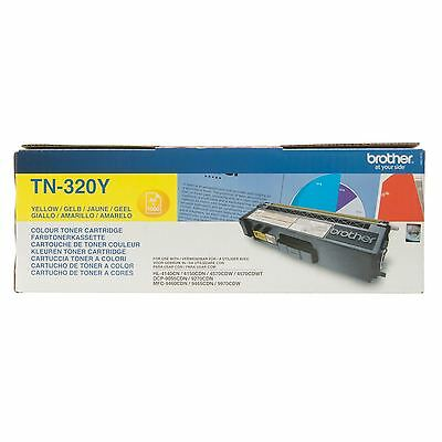 Genuine Brother TN320 Yellow toner cartridge TN-320Y 1500 pages VAT included