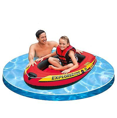 """Intex 54"""" Inflatable Kids Camping Summer Beach Dinghy Pool River Explorer Boat"""