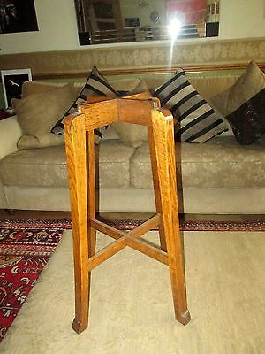 Antique c1850  Victorian Solid OAK wood Tall Plant Pot Stand