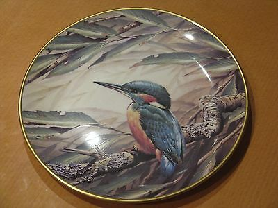 Limited Edition Wedgwood Kingfisher Rspb Plate 9 Inch Diameter