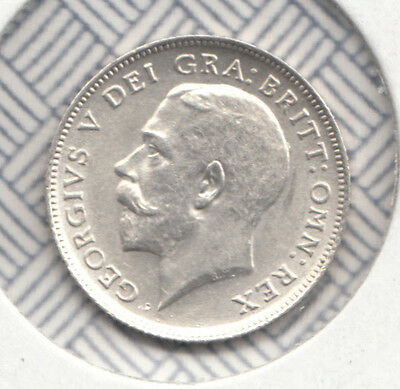 "1912 George V Silver Sixpence ""unc"" S4014 Esc 1797 .925 Sterling Silver"