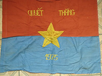 Flag  , Independence Day , do the best to win, North Vietnam , NVA flag 1975