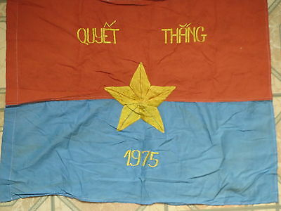 VC Flag  , Independence Day , do the best to win, North Vietnam , NVA flag 1975