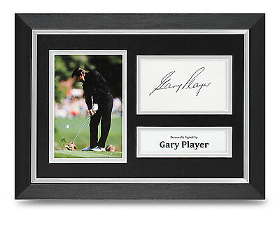 Gary Player Signed A4 Photo Framed Golf Open Memorabilia Autograph Display + COA