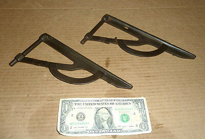 Vintage Drop Leaf Table Leaf Supports,Wings,Flaps,Cast Iron,Old Furniture Parts