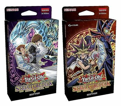 YuGiOh! 2 Structure Decks: Yugi Muto & Seto Kaiba Brand New And Sealed Boxes!