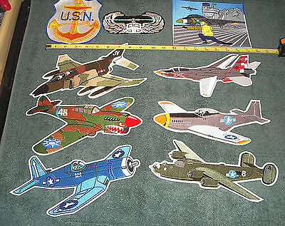 Airplane Aircraft Aviation Collectible Military Patches NEW - LOT OF 9 - Estate