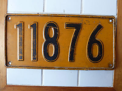 Vintage Foreign License Plate #11876.....272g