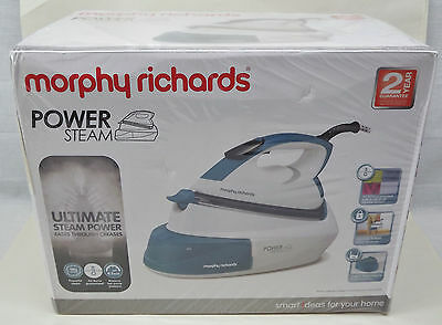 Morphy Richards 333005 Power Steam Iron - 1L Capacity Green/white - New