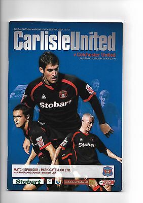 Carlisle United  v  Colchester United, 31st January 2009