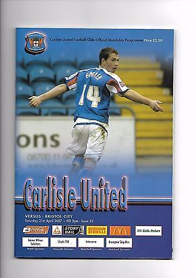 Carlisle United  v  Bristol City, 21st April 2007