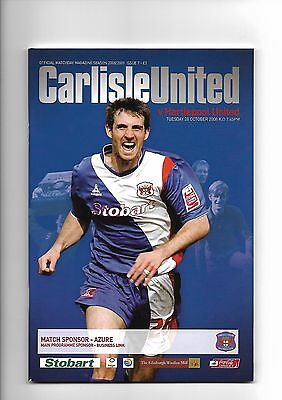 Carlisle United  v  Hartlepool United, 28th October 2008