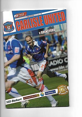 Carlisle United  v  Brentford, 8th August 2009