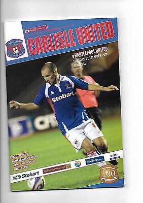 Carlisle United  v  Hartlepool United, 1st December 2009