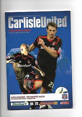 Carlisle United  v  Hereford United, 24th March 2009