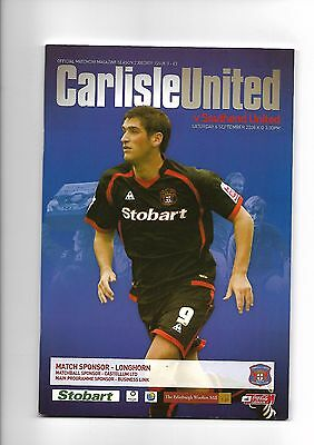 Carlisle United  v  Southend United, 6th September 2008