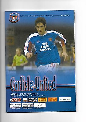 Carlisle United  v  Crewe Alexandra, 20th January 2007