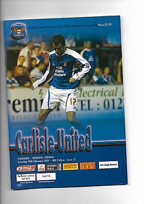 Carlisle United  v  Yeovil Town, 10th February 2007
