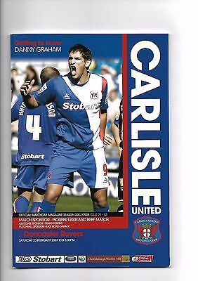 Carlisle United  v  Doncaster Rovers, 23rd February 2007