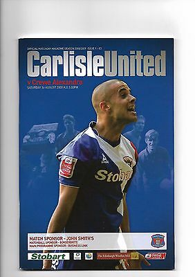 Carlisle United  v  Crewe Alexandra, 16th August 2008