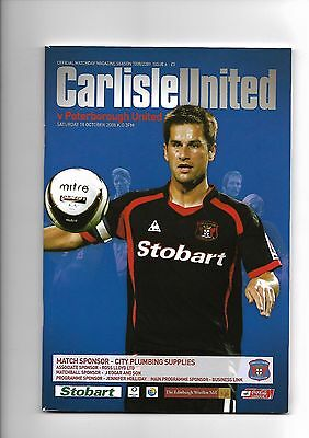 Carlisle United  v  Peterborough United, 18th October 2008