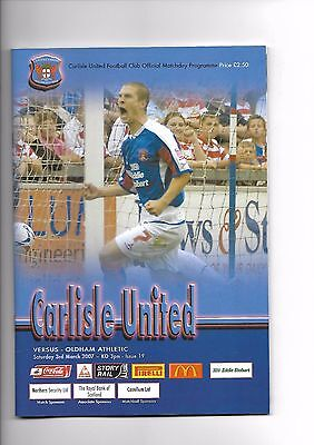 Carlisle United  v  Oldham Athletic, 3rd March 2007