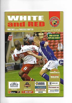 Walsall vv Carlisle United, 11th August 2007