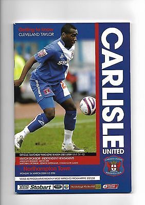 Carlisle United  v  Northampton Town, 24th March 2008