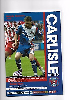 Carlisle United  v  Luton Town, 11th March 2008