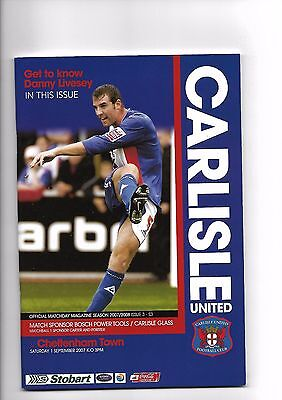 Carlisle United  v  Cheltenham Town, 1st September 2007