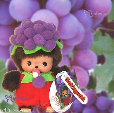Sekiguchi Monchhichi Baby Bebichhichi Taiwan Limited Plush BBCC Fruit Grape