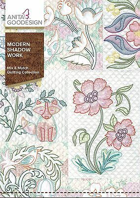 Anita Goodesign MODERN SHADOW WORK  Mix and Match Quilting  266AGHD- NEW SEALED