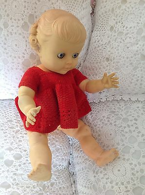 Pedigree Vintage Doll.Pretty.Moulded Hair.Rare.1950S.Rubber.Eyes/Limbs.Dress.