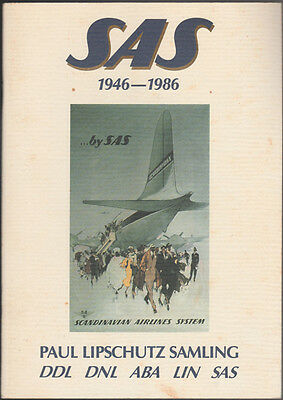 Sas 1946-1986 Booklet Of Outstanding Posters Of The Sas Airlines