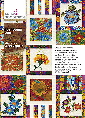 Anita Goodesign POTPOURRI QUILT Mix & Match Collection 293AGHD - NEW SEALED