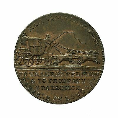 Middlesex Palmer's Mail Coach Halfpenny Token  D&h 363