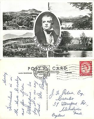 a1359 Scott Country, Selkirkshire, Scotland Lillywhite RP postcard posted 1961 s