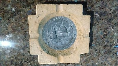 WWII Ash Tray from Rubble of the Houses of Parliament + Cert of Authenticity